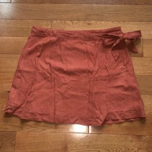Abercrombie & Fitch Linen Side Tie Skirt